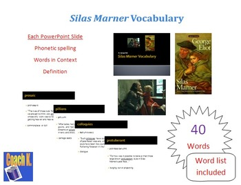 Silas Marner Vocabulary