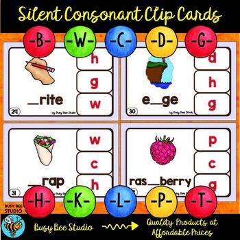 Silent Consonant Clip Cards