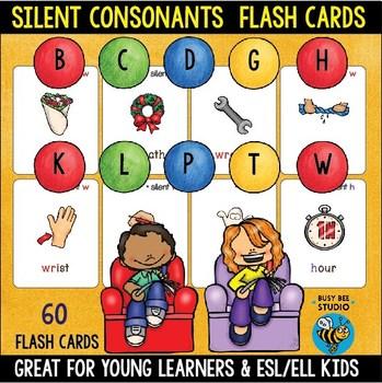 Silent Consonant Flash Cards