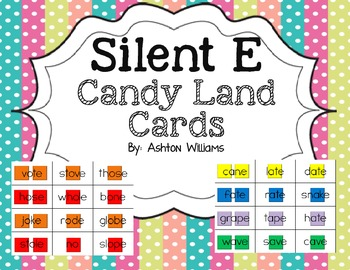 Silent E Candy Land Cards
