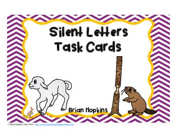 Silent Letter Task Cards
