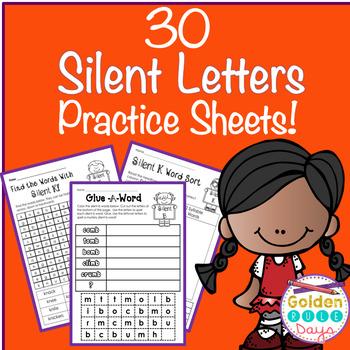 Silent Letters 30 No Prep Printables Grades 2, 3 & 4