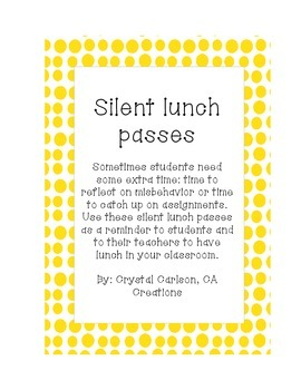 Silent Lunch passes