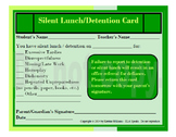 Silent Lunch/Detention Card
