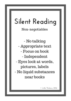 Silent Reading Poster