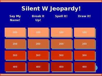 Silent W Jeopardy!