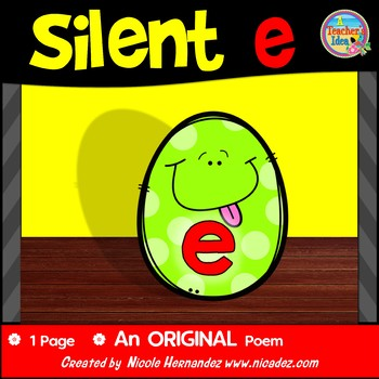 Silent e /CVCe pattern / split digraphs {Poem}
