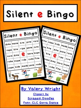 Silent e Bingo Common Core