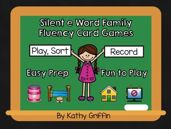 Silent e Fluency Card Game and Activities