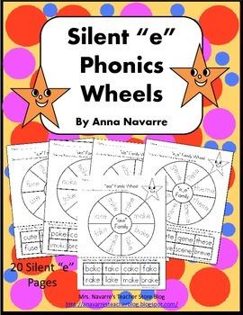 "Silent ""e"" Phonics Wheels"
