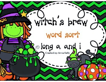 Silent e, long a and i word sort,  Halloween