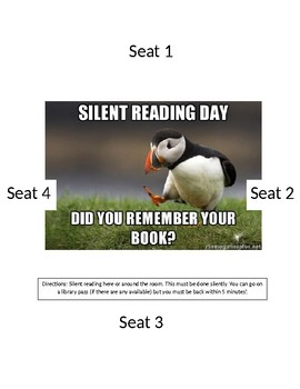 Silent reading station label