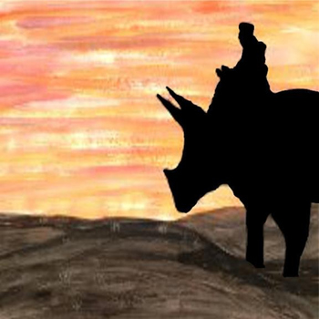 Pet Dinosaur - Silhouette Art Printable