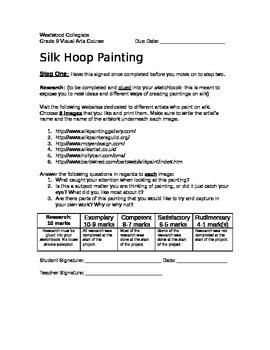 Silk Hoop Painting