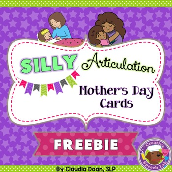 Silly Articulation Mother's Day Cards Freebie