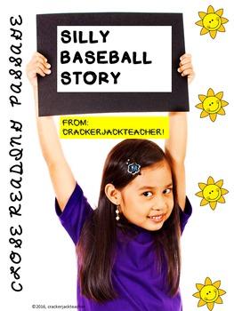 Silly Baseball Story Close Read FREEBIE!