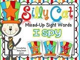 Silly Cat Mixed-Up Sight Words I SPY DIFFERENTIATED Intera