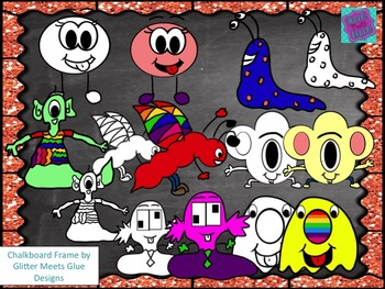 Silly Creatures/Monsters Clipart freebie by Aali