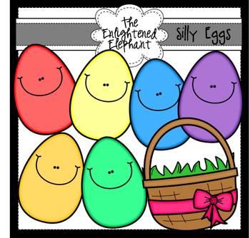 Silly Eggs Clip Art