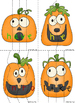 Silly Jack-O-Lanterns Literacy Center Game BUNDLE