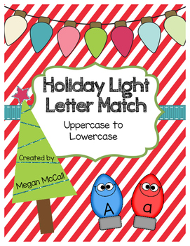 Silly Lights Letter Match (Uppercase/Lowercase): Color and