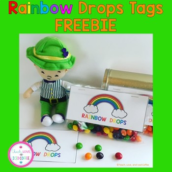 Silly McGilly Rainbow Drops Tags FREEBIE