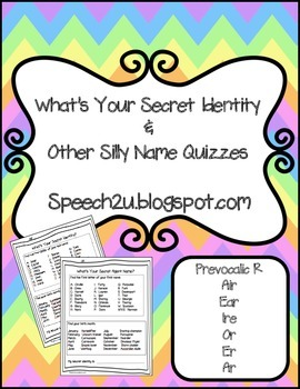 Silly Name Quizzes: Articulation-Prevocalic/Vocalic R R co