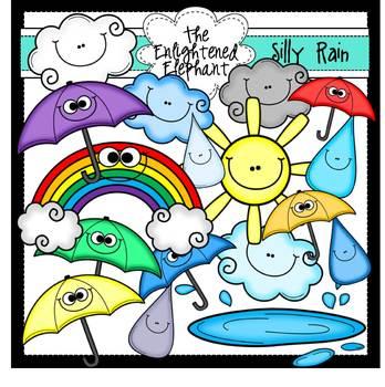 Silly Rain Clip Art