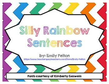 Silly Rainbow Sentences