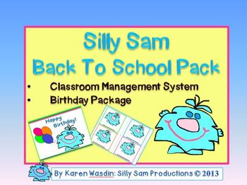 Silly Sam Back To School Pack Classroom Management System