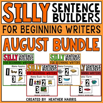 Silly Sentence Builders: AUGUST BUNDLE