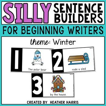 Silly Sentence Builders: Winter