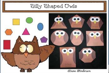 Silly Shaped Owls Craftivity