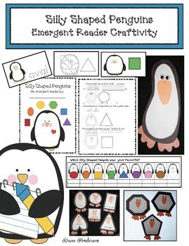 Silly Shaped Penguins Emergent Reader Craftivities