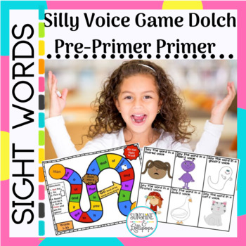 Sight Words:Silly Voice Game Pre-primer/Primer Dolch Words