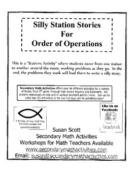 Silly Station Stories - Order of Operations