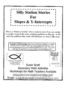 Silly Station Stories for Slope and Y-Intercepts