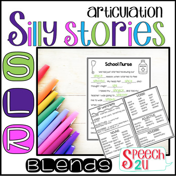 Silly Stories Articulation Carryover: /s/, /l/ and /r/ blends