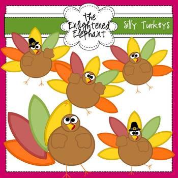 Silly Turkeys Clip Art