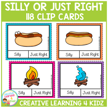 Silly or Just Right Clip Cards