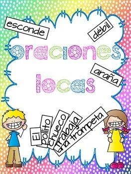 Silly sentences (SPANISH) / Oraciones locas