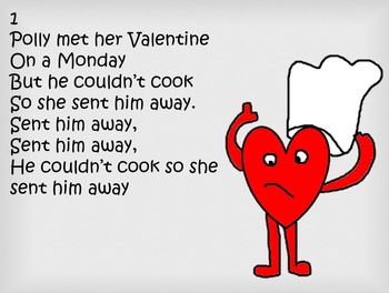 Silly song with simple percussion for Valentine's day