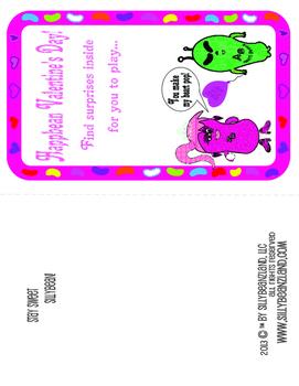 Sillybeanz Valentine's Day Lollipop Card