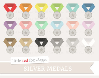 Silver Medal Clipart