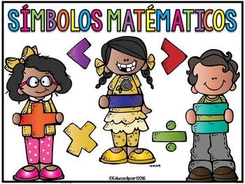 Símbolos matemáticos - Spanish Math Symbols Posters