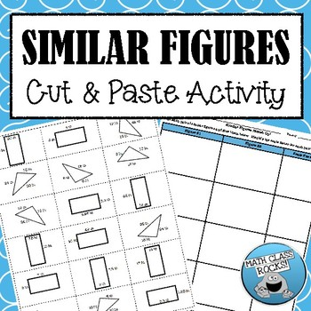 Similar Figures Cut & Paste Activity!