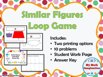 Similar Figures Loop Game with Missing Dimensions - Solve