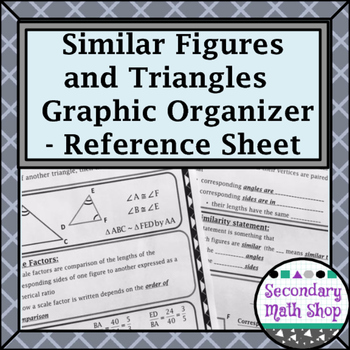 Similar Figures - Properties and Triangle Methods Referenc
