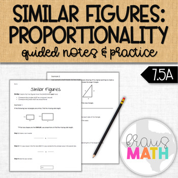 Similar Figures Notes: Proportionality