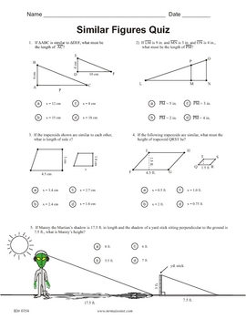 Printables Similar Figures Worksheet figure worksheets davezan similar davezan